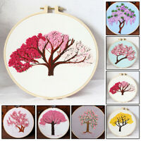 Tree Embroidery Starter Cross Stitch Kit Set Threads DIY Craft Home-Decoration