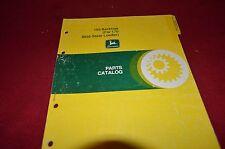 John Deere 165 Backhoe For 170 Skid Steer Dealer's Parts Book Manual MISC
