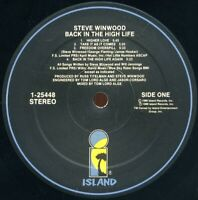 Steve Winwood - Back In The High Life (Vinyl LP 1986) Free Shipping