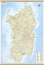 SARDEGNA CARTINA REGIONALE MURALE [67X100 CM] [MAPPA/CARTA/POSTER] BELLETTI