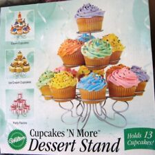 WILTON Cupcakes 'N More Dessert Stand Holds 13 Cupcakes Or Muffins NIB