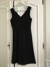 ARMANI COLLEZIONI robe de soirée noire 100% soie T 38