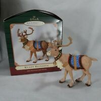 Hallmark Keepsake Ready Reindeer Christmas Ornament  2001 With Origina Box Unruh