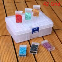 42 cas de boîte de rangement de peinture de diamant de broderie de fentes cas wy