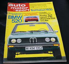 AMS 19/72 BMW turbo M1, 520, VW Porsche 914, Lancia Stratos, Alfa Romeo Spider