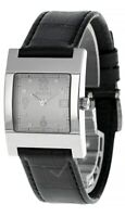 GUCCI Quartz SS Case Gray Dial BLK Leather Men's Watch 7700M.0036982