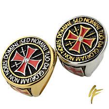 Knights Templar Cross Masonic Signet Ring | Cubic Zirconia | Freemason |Soldiers