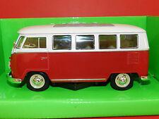 Welly 1/24 1963 Volkswagern T1 Bus Kombi Cream/Red MIB
