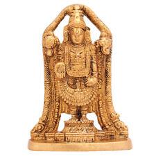 """Indian Brass Metal Tirupati Balaji Statue Small Idol Temple Pooja Décor Murti 4"""""""