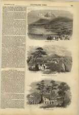 1858 Japón Jeddo Village camino Fujiyama