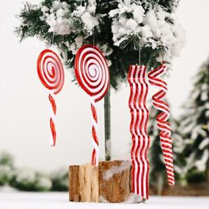 2022 Merry Christmas Tree Decoration Candy Cane Plastic Lollipop Xmas Tree DecRI