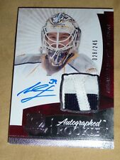 10-11 The Cup Anders Lindback Auto Patch RC 28/249  * 2 CLR PATCH *  L@@K