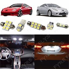 5x White LED lights interior package kit for 2000-2005 Toyota Celica TC6W