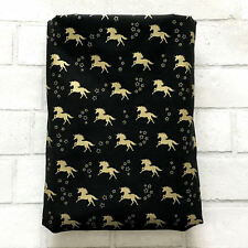 Book Sleeve Unicorn Gold Print Pocket Protector Pouch Hardback Cover Gift