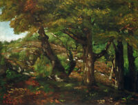 The Fringe of the Forest Gustave Courbet Fine Art Painting Print Canvas Small