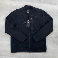 Nike Sportswear Tech Fleece Full Zip Bomber Jacket Black CZ1797-010 Men's Large