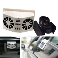New Ivory Solar Dual Fan Car Front/Rear Window Air Vent Cool Cooler Fan Portable