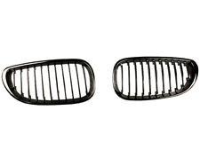For BMW E60 Front Bumper Black Chrome Grille