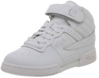 Fila F-13V Youth Sneaker Shoes Triple White 31F131LT Basketball Lace Up High Top