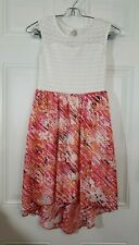 Speachless Girl's Size 10 Multicolor Pink Lace Top High Low Dress