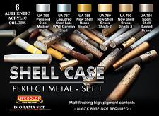 Lifecolor LC-CS47 Shell Case Perfect Metal Acrylic Paint (Pk6) Set No:1