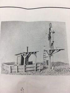 HO HOn3 Scale Sequoia Sand House & Bucket Crane Kit #4011 New Old Stock