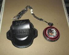 Franklin Mint Dale Earnhardt Sr #3 Pocket Watch w/ Leather Case New Condition