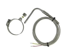 Exposed Tip EGT Temperature Sensors K Type with Adjustable Insert Length & Clamp