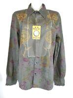 M1)  Designer Rag Recycle RARE RAER Damen Hemd Bluse Shirt Neu Gr. XL 42 Italy