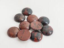 2 X marrón natural Obsidiana caoba Redonda Cabuchones De 12mm Piedras Semipreciosas Piedras Preciosas