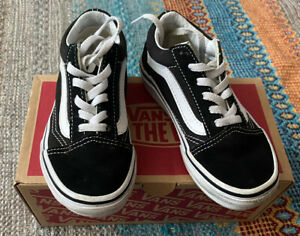 Infant Size 10 Black And White Vans
