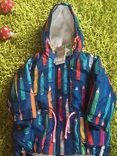 Next Baby Girls Shower Resistant Warm Pencil Design Coat Jacket 6-9 Months New