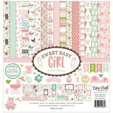 Echo Park Sweet Baby Girl ~ Collection Kit ~ 12x12 Double Sided Paper & Stickers