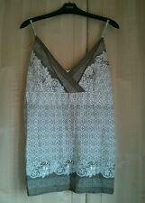 Bhs brown and cream floral patterned Strappy Vest Top 14