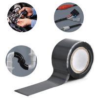 Rubber Silicon Repair Waterproof Bonding Tape Rescue Self Fusing Wire Black Kits