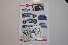 DECALS 1/43 RENAULT MEGANE MAXI KIT CAR PRINCEN RALLYE SPA 1998 WRC RALLY