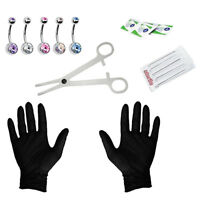 15Pcs Jewelry Needles Kit Belly Navel Button Ring Body Piercing Tool Set