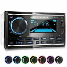 RADIO DE COCHE CON 7 COLORES BLUETOOTH MANOS LIBRES RDS USB AUX MP3 2DIN