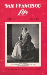 """Helen Gahagan """"MARY OF SCOTLAND"""" Ian Keith 1934 """"San Francisco Life"""" Magazine"""