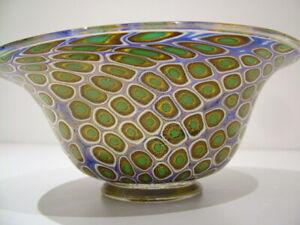 STUNNING SIGNED MORETTI VINTAGE VENETIAN GLASS BOWL MURANO ITALIAN ART GLASS 670