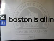 2012 Official Boston Marathon Adidas Running Poster