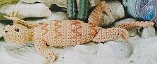 """LIFELIKE 21"""" Long Louie Lizard/Toy/Crochet Pattern INSTRUCTIONS ONLY"""