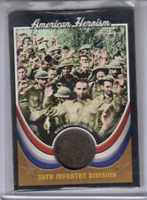 2009 TOPPS AMERICAN HERITAGE AMERICAN HEROISM 36TH INFANTRY DIVISION SWATCH
