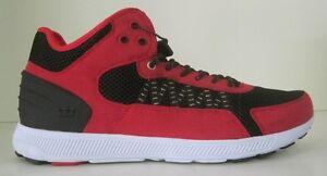 SUPRA Men's Owen Mid Sneaker  RED/BLACK-WHITE/WHITE 11 to 13 m us