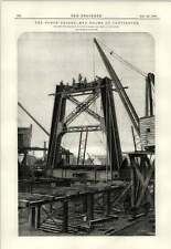 1889 The Forth Bridge End Frame Of Cantilever Fowler Baker