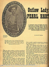 OUTLAW LADY PEARL HART HISTORY + GENEALOGY