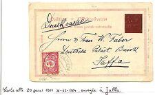 PALESTINE ISRAEL P.O. OTTOMAN 1904  PPC BETLEEM TO  JAFFA   F/VF
