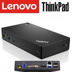 Lenovo ThinkPad USB 3.0 Pro Dock with USB 3.0 (DK1522) - WORKS on ALL LAPTOPS