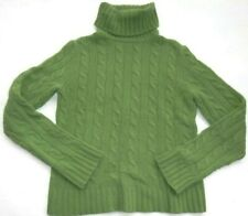 women's J.CREW cashmere green top turtleneck sweater S