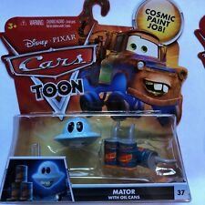 Disney Cars Toon Mator With Oil Cans Unidentified Flying Mater #37 (NIP See Note